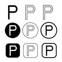 sinal de símbolo de ícone de fonograma de direitos autorais
