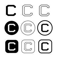Sinal de símbolo de ícone de direitos autorais