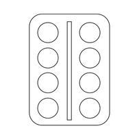 símbolo de ícone de medicina vetor