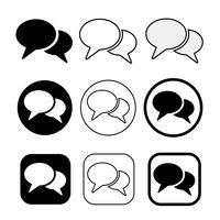 sinal de ícone de bolhas de discurso vetor