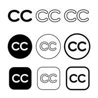 Sinal de símbolo de ícone creative commons