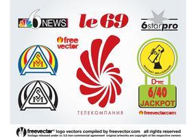 6 logotipos vetor
