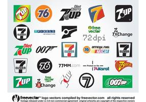 Sete Logos vetor