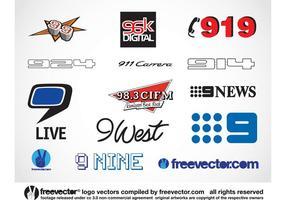 Nove Logos vetor