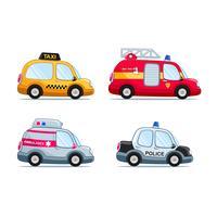 conjunto de carros de crianças vetor