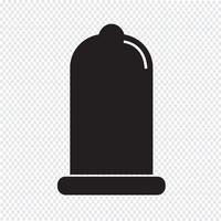sinal de proteção de ícone de preservativo vetor