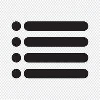 Sinal de ícone de lista com marcadores vetor