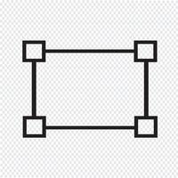 transformar icon sinal Ilustração vetor