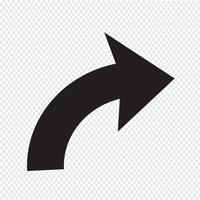 refazer sinal ícone Ilustração vetor