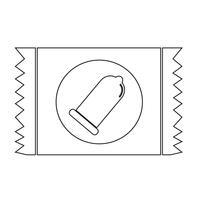 Sinal de proteção de ícone de pacote de preservativo vetor
