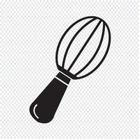 sinal de símbolo de ícone de batedor vetor