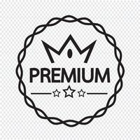 Ícone de rótulo premium vintage vetor