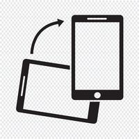 Rodar o ícone do smartphone vetor