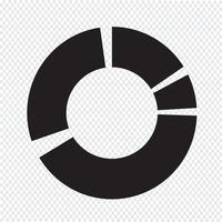 Simples diagrama e gráfico ícone vetor