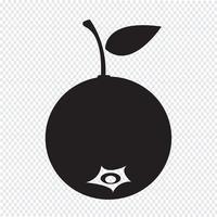 ícone de frutas de mirtilo vetor