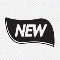 Novo ícone de etiqueta vetor