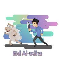ilustração de personagem eid mubarak