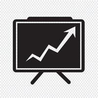 Ícone de apresentação de gráfico crescente