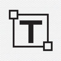 Ícone de letra de edição de texto vetor