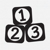 Ícone 123 Blocos vetor