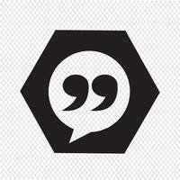 Blockquote sign icon Ilustração vetor