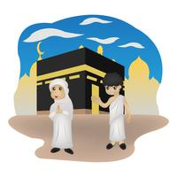 ilustração de personagem eid mubarak vetor