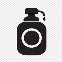 Gel de banho, ícone de dispensador de sabão líquido vetor