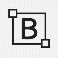 Ícone de letra de edição de texto em negrito vetor