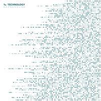 Fundo geométrico da tecnologia quadrada azul abstrata do teste padrão do fundo. Você pode usar para anúncios de alta tecnologia moderna, cartaz, arte da capa, relatório anual. vetor