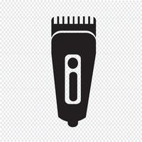 Ícone de barbeador de símbolo de barbeador vetor