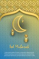 design moderno da capa Poster eid mubarak Ilustration