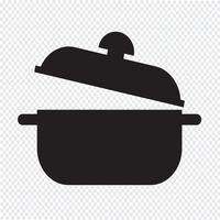ícone de panela símbolo sinal vetor