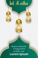 modelo de eid mubarak design moderno cartaz vetor