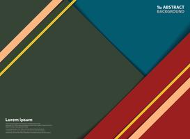 Modelo de padrão colorido moderno abstrato com fundo de sombra. Você pode usar para o modelo de design da arte moderna. vetor