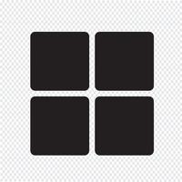 Sinal de símbolo de ícone de menu