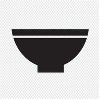 tigela ícone símbolo sinal vetor