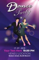 modelo de festa do cartaz de design moderno dança show vetor