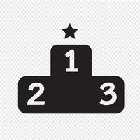 Sinal de símbolo de ícone de pódio vetor