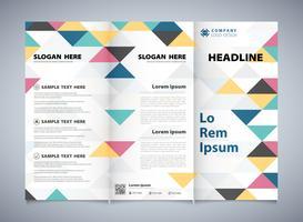 Teste padrão colorido abstrato dos triângulos incorporado do folheto do negócio. Você pode usar para o design de brochura do trabalho artístico. vetor