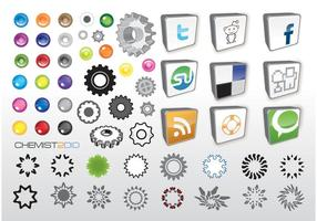 Ícones do vetor web social