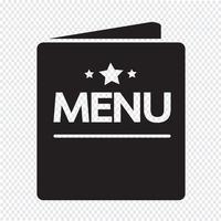 ícone de menu sinal de símbolo vetor
