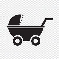 Ícone de carrinhos de bebê vetor