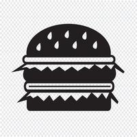 sinal de símbolo de ícone de hambúrguer vetor