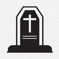 ícone grave do dia das bruxas vetor