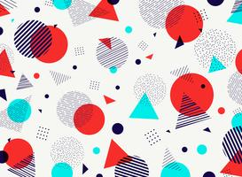 O céu azul roxo alaranjado geométrico abstrato colore a decoração moderna do teste padrão. Você pode usar para design de arte, anúncio, cartaz, folheto, relatório de capa. vetor