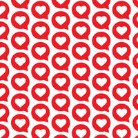 Plano de fundo padrão ícone de bolha do discurso de coração