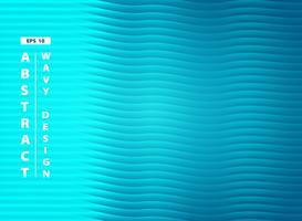 Fundo azul abstrato do projeto do teste padrão ondulado do mar do aqua. ilustração vetorial eps10