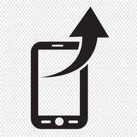 Ícone do telefone móvel vetor
