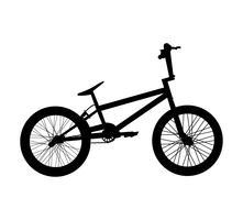 Silhueta de bicicleta de BMX vetor