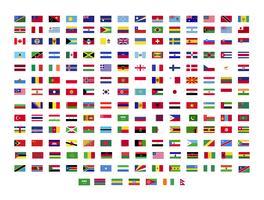 coleção de bandeiras do mundo vetor